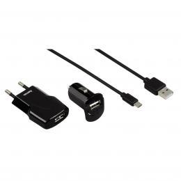 Hama micro USB nabíjecí set Picco 3v1, èerná