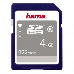 Hama SDHC 4 GB 22 MB/s CLASS 10
