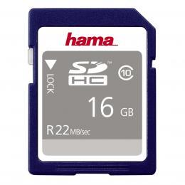 Hama SDHC 16 GB 22 MB/s CLASS 10