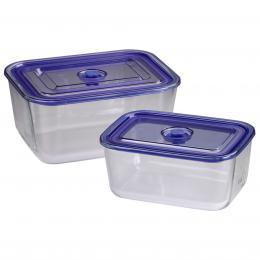 Xavax sklenìné nádoby, hranaté, 1500 ml   3050 ml, 2 ks