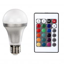 Xavax LED Bulb, E27, 820lm replaces 60W bulb, multi-colour with remote control