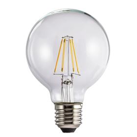Xavax LED filament žárovka, E27, 470 lm (nahrazuje 40 W), tvar koule, teplá bílá