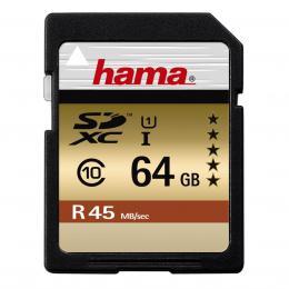 Hama SDXC 64 GB UHS-I 45 MB/s Class 10