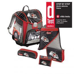 Školní aktovka - 5-dílný set, Step by Step Touch American Truck, certifikát AGR