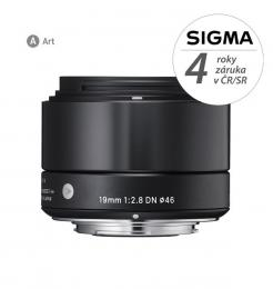 SIGMA 19/2.8 DN ART èerný, Micro 4/3, Olympus / Panasonic