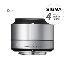 SIGMA 19/2.8 DN ART støíbrný, Micro 4/3, Olympus / Panasonic