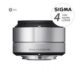 SIGMA 30/2.8 DN ART støíbrný, Micro 4/3, Olympus / Panasonic