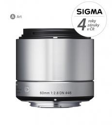 SIGMA 60/2.8 DN ART støíbrný SONY E-mount