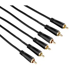 Hama AV kabel 3 cinch - 3 cinch, pozlacený, 3 , 1,5 m