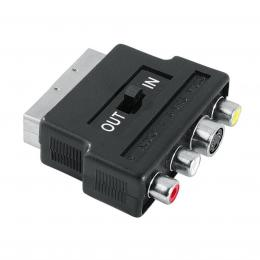 Hama redukce SCART vidlice - 3 cinch AV   S-video zásuvka, IN/OUT