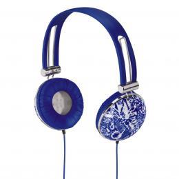 Hama sluchátka HK-656 Trend, uzavøená, modrá/bílá