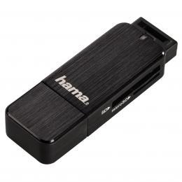 Hama �te�ka karet USB 3.0 SD/microSD, �ern�