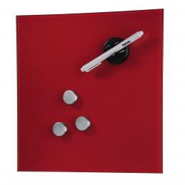 Hama sklenìná magnetická tabule, 30x30 cm, èervená