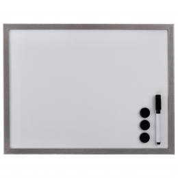 Hama bílá magnetická tabule, 60x80 cm, døevìná, støíbrná