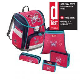 Školní aktovka - 5-dílný set, Step by Step Touch Motýl, certifikát AGR