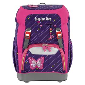 Školní batoh Step by Step GRADE Tøpytivý motýl   BONUS Desky na sešity za 1,- Kè