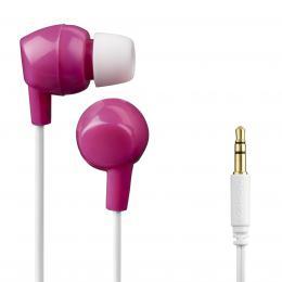 Thomson dìtská sluchátka EAR3106, silikonové špunty, rùžová/bílá