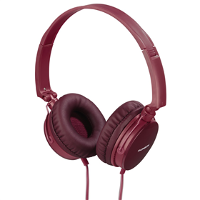 Thomson on-ear sluchátka s mikrofonem HED2207, èervená