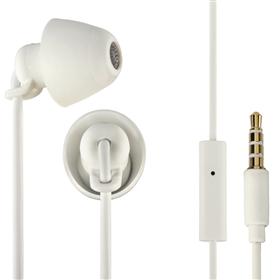 Thomson sluchátka s mikrofonem EAR3008 Piccolino, mini špunty, bílá