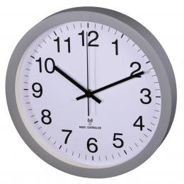 Hama nástìnné hodiny PG-300, øízené rádiovým signálem, tichý chod, šedé