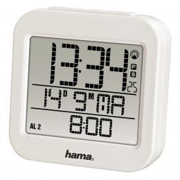 Hama RC 130 digitální budík, øízený rádiovým signálem, bílý