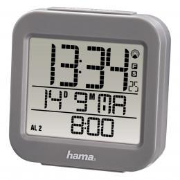 Hama RC 130 digitální budík, øízený rádiovým signálem, šedý