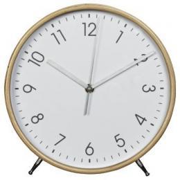 Hama HG-220, døevìné stolní hodiny, tichý chod, bílé