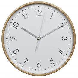Hama HG-250, døevìné nástìnné hodiny, tichý chod, bílé