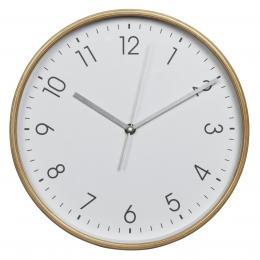 Hama HG-320, døevìné nástìnné hodiny, tichý chod, bílé