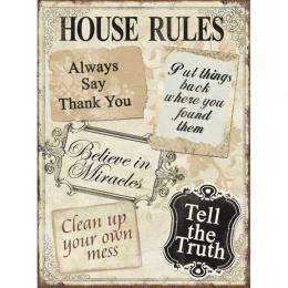 Xavax House Rules, dekoraèní tabulka na stìnu, 26x35 cm