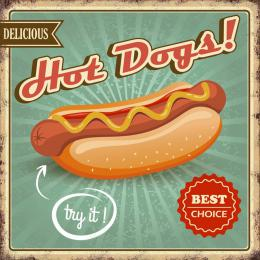 Xavax Hot Dogs, dekoraèní tabulka na stìnu, 25x25 cm