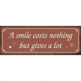 Xavax Smile, dekoraèní tabulka na stìnu, 39x14 cm
