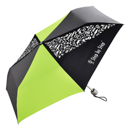 Dìtský skládací deštník, èerná/ šedá/ zelená