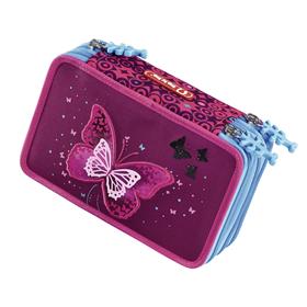 Vybavený blikací penál Step by Step Tøpytivý motýl