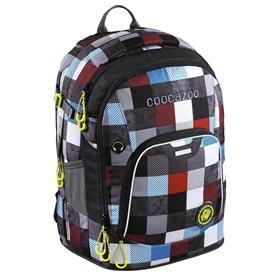 Školní batoh coocazoo RayDay, Checkmate Blue Red