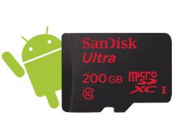 SanDisk Ultra  microSDXC 200 GB 90 MB/s Class 10, Android, Adapt�r