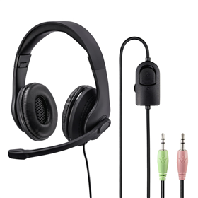 Hama PC Office stereo headset HS-P200, èerný