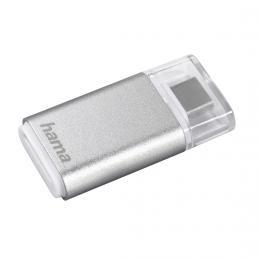 Hama �te�ka karet USB 3.1 typ C, OTG , microSD, st��brn�