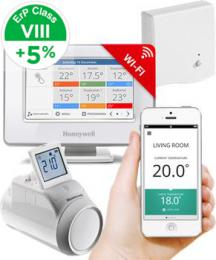 Honeywell Evohome Starter Set 1 CZ, Evohome Touch WiFi   1x termohlavice HR92   BDR91,  5  ErP 8