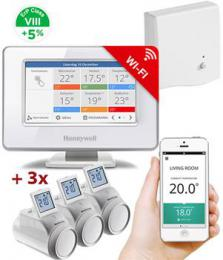 Honeywell Evohome Starter Set 3 CZ, Evohome Touch WiFi   3x termohlavice   BDR91,  5  ErP 8
