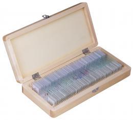 Sada preparátù pøipravených k pozorování mikroskopem Bresser, 50 ks v krabièce