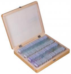 Sada preparátù pøipravených k pozorování mikroskopem Bresser, 100 ks v kufru