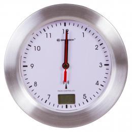 Nástìnné vodotìsné hodiny na stìnu koupelny Bresser MyTime Bath, bílé - zvìtšit obrázek