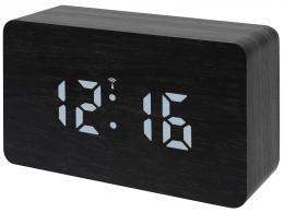 Barevné LED stolní hodiny s budíkem Bresser MyTime W, èerné - zvìtšit obrázek
