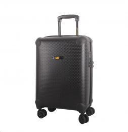 CAT cestovní kufr HEXAGON, 37 l, èerný, materiál polypropylen, kabinové zavazadlo