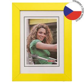 Hama rámeèek døevìný JESOLO, žlutá, 40x60 cm