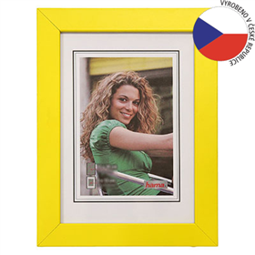 Hama rámeèek døevìný JESOLO, žlutá, 50x70 cm