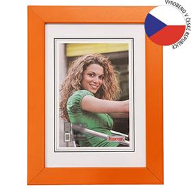 Hama rámeèek døevìný JESOLO, oranžová, 40x60 cm