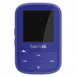 SanDisk Clip Sport Plus 16GB Wearable, Bluetooth MP3 Player Blue, modrá