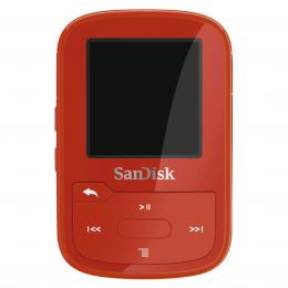 SanDisk MP3 Sansa Clip Sport Plus 16 GB èervená